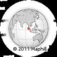 Outline Map of Medan, rectangular outline