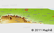 """Physical Panoramic Map of the area around 3°19'33""""N,98°40'30""""E"""