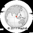 Outline Map of Tanjong Malim, rectangular outline