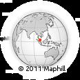 Outline Map of Gambang, rectangular outline