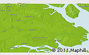 """Physical 3D Map of the area around 3°51'2""""N,117°22'30""""E"""