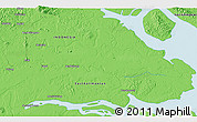 """Political 3D Map of the area around 3°51'2""""N,117°22'30""""E"""