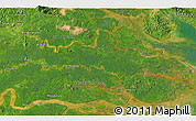 """Satellite 3D Map of the area around 3°51'2""""N,117°22'30""""E"""