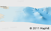 """Shaded Relief Panoramic Map of the area around 3°51'2""""N,118°13'29""""E"""