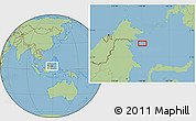"Savanna Style Location Map of the area around 3°51'2""N,119°4'29""E"