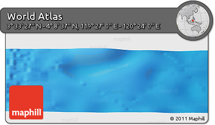 """Physical Panoramic Map of the Area around 3°51'2""""N,119°55'30""""E"""