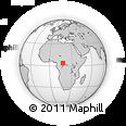 Outline Map of Mbaïki, rectangular outline