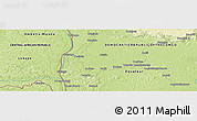 "Physical Panoramic Map of the area around 3° 51' 2"" N, 18° 46' 29"" E"