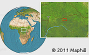 """Satellite Location Map of the area around 3°51'2""""N,23°1'29""""E"""