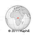 Outline Map of Zakila, rectangular outline