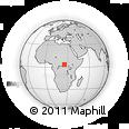 Outline Map of Zambasende, rectangular outline