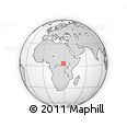 """Outline Map of the Area around 3° 51' 2"""" N, 28° 7' 30"""" E, rectangular outline"""
