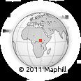 Outline Map of Keka, rectangular outline