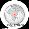 Outline Map of Babu-Runge, rectangular outline