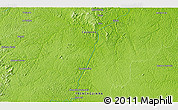 """Physical 3D Map of the area around 3°51'2""""N,52°37'30""""W"""