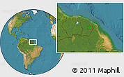 """Satellite Location Map of the area around 3°51'2""""N,52°37'30""""W"""