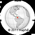 Outline Map of Inírida, rectangular outline
