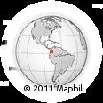Outline Map of Buenaventura, rectangular outline