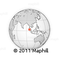 Outline Map of Mandheling Coffee, rectangular outline