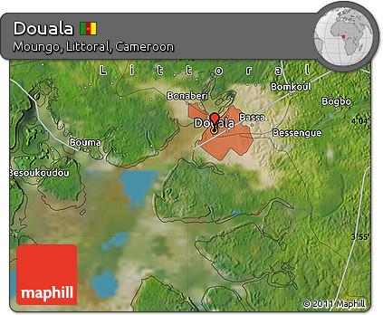 Free Satellite Map of Douala