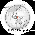 Outline Map of Parbulu, rectangular outline