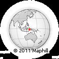 Outline Map of Teluk Ambon, rectangular outline