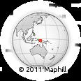 Outline Map of Puncak Jaya, rectangular outline