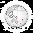 Outline Map of Wewak, rectangular outline