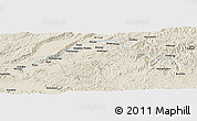 Shaded Relief Panoramic Map of Ibashilo