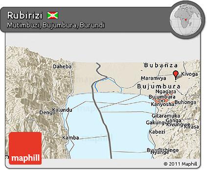 Free Shaded Relief Panoramic Map of Rubirizi