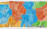 Political 3D Map of Budida
