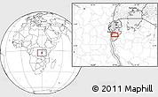 Blank Location Map of Budida