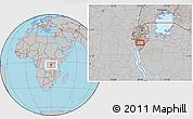 Gray Location Map of Budida