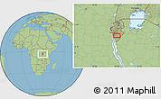 Savanna Style Location Map of Budida