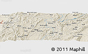 Shaded Relief Panoramic Map of Bungere