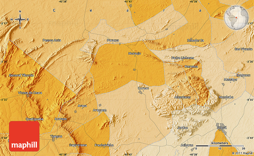 Political Map Of Sobral - Sobral map