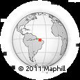 Outline Map of Chapadinha, rectangular outline