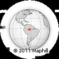Outline Map of Tefé, rectangular outline
