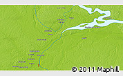 """Physical 3D Map of the area around 3°30'2""""S,73°1'30""""W"""