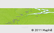 """Physical Panoramic Map of the area around 3°30'2""""S,73°1'30""""W"""