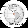 Outline Map of Huasaga, rectangular outline