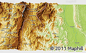 """Physical 3D Map of the area around 3°30'2""""S,78°7'30""""W"""