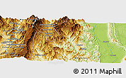 """Physical Panoramic Map of the area around 3°30'2""""S,78°7'30""""W"""