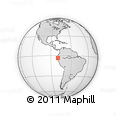 Outline Map of Machala, rectangular outline