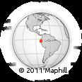Outline Map of Zaruma, rectangular outline
