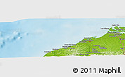 """Physical Panoramic Map of the area around 3°30'2""""S,80°40'30""""W"""