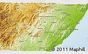 Physical 3D Map of Alcanar