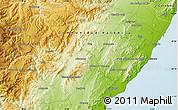 Physical Map of Alcanar