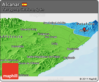 Alcanar Spain Map.Free Political Panoramic Map Of Alcanar