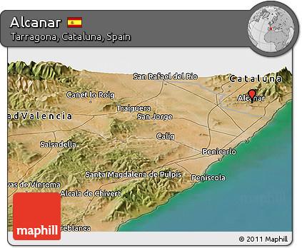 Alcanar Spain Map.Free Satellite Panoramic Map Of Alcanar